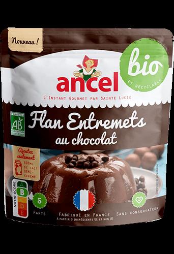 Flan entremets au chocolat biologique