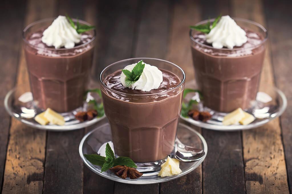 Flan entremets au chocolat-noisette